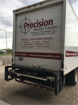 Precision Wood Finish Company big truck back