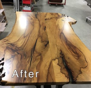 Hickory Table Top Restoration - After